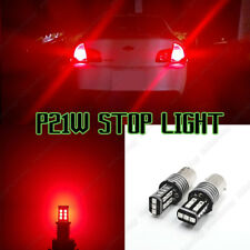 2x P21W 1156 Rear Canbus LED STOP BRAKE RED Lights Bulbs Error Free Saab Seat