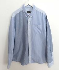 Urban Outfitters men's size EXTRA LARGE blue striped button down dress shirt