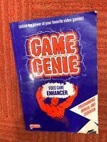 Game Genie ORIGINAL NINTENDO NES Blue Book Guide