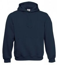 B&C Hooded sweater WU620 Unisex Basic Hoody Navy Men Women XS Box13 11 f