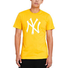 New Era Uomo New York Yankees Stagionale Squadra Girocollo T-Shirt - Giallo