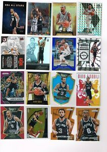 San Antonio Spurs Mixed SP, Color, #ed, Rookie Lot of (32) Cards