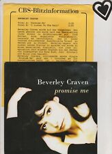 """7 """"  BEVERLY CRAVEN - PROMISE ME  NM -"""