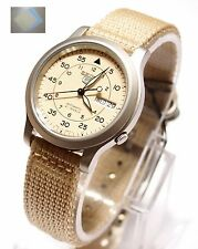 SEIKO 5 SNK803 Military Style Automatic Men's Tan Watch SNK803K2 Brand New +Gift
