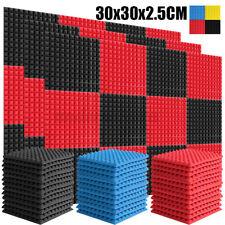 6 STK Pyramiden Akustikschaum Schalldämmung Schaumstoff Schallschutz 30x30x2.5cm