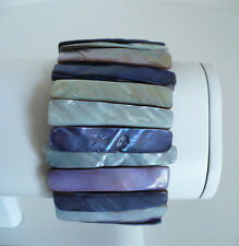 Polished Chunky Big Stone Expandable Woman's Lavender Purple & White Bracelet