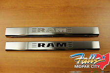 2011-2017 Dodge Ram Door Sill Guards Plates Stainless Steel Mopar OEM