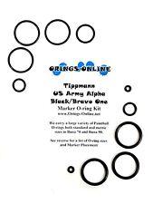 Tippmann US Army Alpha Black Bravo One Paintball Marker O-ring Kit x 2 rebuilds