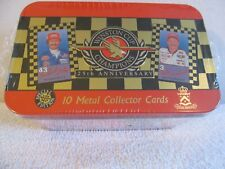 WINSTON CUP CHAMPIONS 10 METAL COLLECTOR CARDS 25TH ANNIVERS SPECIAL EDITION NIB