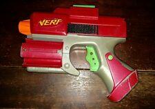 Red Maroon Nerf Crossfire Sidearm Pistol Revolver Dart Tag Gun Strikefire