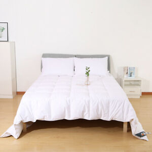 7 FT Emperor Bed Size Duvet Quilt 13.5 Tog White Goose Feather & Down