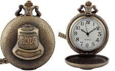 Acdc Hells Bells Bronze Metal Pendant Pocket Watch