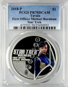 2018-P Star Trek Discovery Michael Burnham PCGS PR70DCAM 1oz Proof Silver Coin