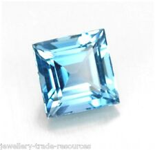 Natural Sky Blue Topaz 14mm x 14mm Square Cut Gem Gemstone