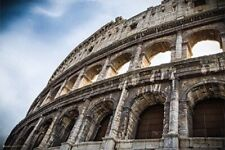 ROME ~ COLOSSEUM SIDE ~ 24x36 TRAVEL HISTORY POSTER ~ Tourism Italy NEW/ROLLED!