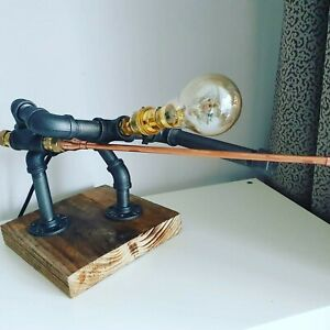 Ideal gift Steampunk industrial Retro rustic quirky Design lamp. snooker man