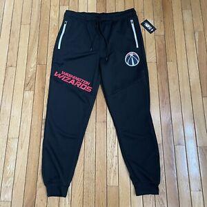 NBA Brand Washington Wizards Comfort Joggers Pants Black Mens Size L MSRP $65
