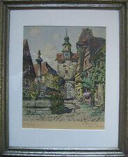 ::HANS BÖHME `1905 ROTHENBURG ALTSTADT HANDCOLORIERTE LITHOGRAPHIE /KPT2LI