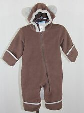 COLUMBIA Brown Bear Fleece Winter Snow Bunting 1 One Piece Warm Suit Baby 6 mon