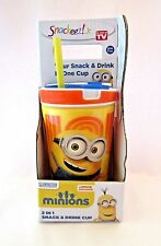 Snackeez Jr Minions 2 in 1 Snack And Drink Cup Zak BPA Free