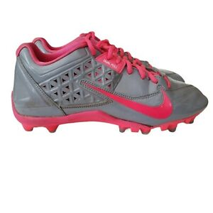 Nike Womens Speed Lax 4 Lacrosse Cleats Size 10 Gray Pink Comfort 616300-006