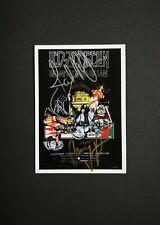 Led Zeppelin 6x4 signed by Jimmy Page, Robert Plant & John Paul Jones, CoA