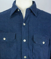 VTG 60s Men's Penneys BIG MAC Sanforized Blue Flannel Work Shirt Sz M 15-15 1/2