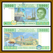 C.A.S Central African States, Cameroon 5000 (5,000) Francs, 2002 P-209U (AU)