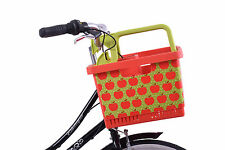 TRENDY APPLE BIKE SHOPPING BASKET EASY FITTING ON TO YOUR CYCLE HANDLEBAR SALE