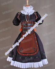 Alice Madness Returns Alice Steam Brown Dress Game Cosplay Costume High Quality