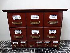 Jugendstil Gewürzschränkchen Gewürzregal Schubladen Schrank Küche Gewürz Holz