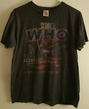The Who Band Live In Concert '82 Junkfood Medium T-Shirt Tee Front/Back Graphics