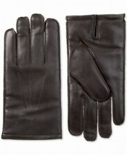 Isotoner Men's Driving Gloves Brown Size Medium M Leather Touchscreen $80 #300