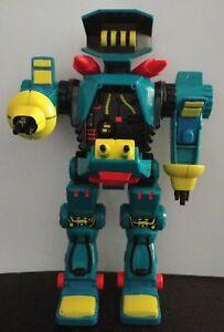 Vintage 90s Micro Machines Zbots Tranzor w/ Copbot Scammer, Galoob Robot Figure