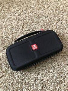 RDS Officially Licensed By Nintendo Switch Black Red Game Travel Case w/ Cradle