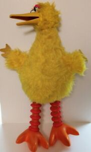 """Vtg 1970's Sesame Street Big Bird 19"""" Plush Puppet Movable Mouth Made In Jamaica"""