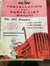 M&W Gear Ih International Farmall 706 656 D 282 Diesel Turbo Install Manual