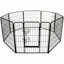 LARGE PET PLAY PEN HEAVY DUTY PET CAGE CRATE RUN  DOG PUPPY METAL CAGE RABBIT