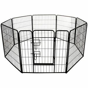 LARGE HEAVY DUTY METAL PET PLAY PEN PET DOG PUPPY RABBIT CAGE CRATE RUN TRAINING