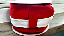 Craft Ribbon Wired Red Velvet with White 2 1/2 x 5 yd New Free Ship Christmas BR