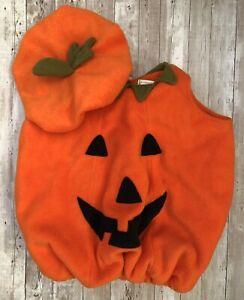Pottery Barn Kids Pumpkin Fleece Jack-O-Lantern Halloween Costume 12-24 months