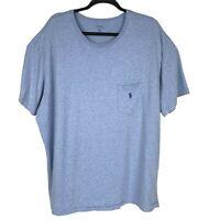 Polo Ralph Lauren Soft Cotton Pocket Tshirt Blue Short Sleeve Mens Size 2XL XXL