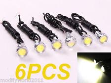 6 x 3W LED Eagle Eye White Light Car Motor Daytime Running DRL Tail Backup Light