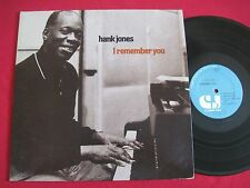 JAZZ LP - HANK JONES - I REMEMBER YOU (1978) CLASSIC JAZZ CJ 115