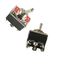 2 × 20A 125V Car Boat Heavy Duty Toggle Switch DPDT On-Off-On Switch 6 Terminal