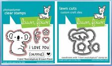 Lawn Fawn Photopolymer Clear Stamp & Die Combo  I LOVE YOU (CALYPTUS) ~1823,1824