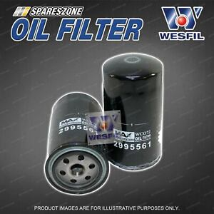 Wesfil Oil Filter for Iveco Daily 40C14 50C17 65C17 Turbo Diesel 4Cyl DOHC 16V