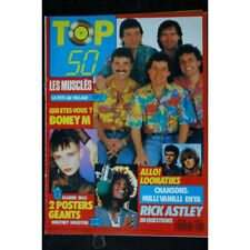 TOP 50 161 N° 161 AVRIL 1989 LES MUSCLES BONEY M RICK ASTLEY + 2 POSTERS JEANNE