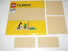 Lego ® Lot x5 Plaques de Base Beige Tan Plate 10700 + 2x 91405 + 2x 92438 NEW