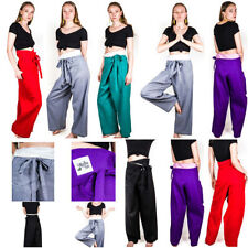 Cotton Harem High Rise 32L Trousers for Women